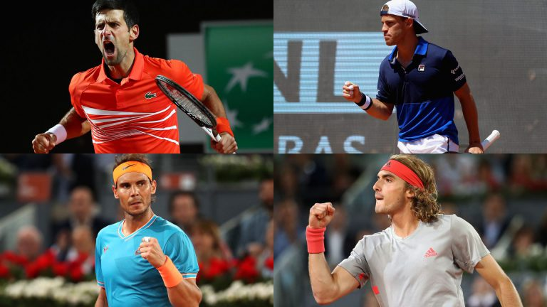 Tsitsipas – Nadal y Djokovic – Schwartzman: completo menú en las semis de Roma