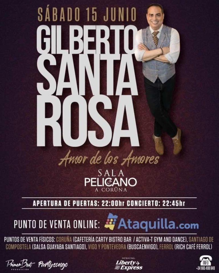 """""""El Caballero de la Salsa"""" Gilberto Santa Rosa llega A Coruña con un concierto de 20 músicos desde Puerto Rico"""