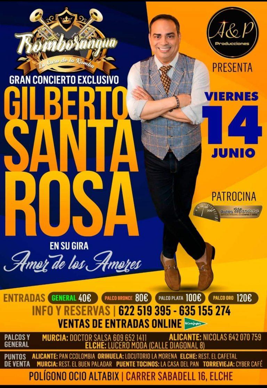 El Caballero de la Salsa, Gilberto Santa Rosa, llega hoy a Elche en su gira por España