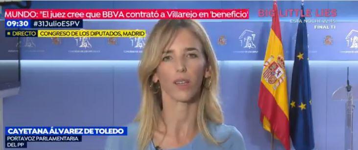 """Álvarez de Toledo anticipa una """"oposición indómita"""" y alejada de la """"histeria"""""""