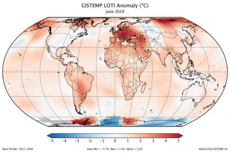 Junio de este año bate el récord histórico de calor en la Tierra desde 1880