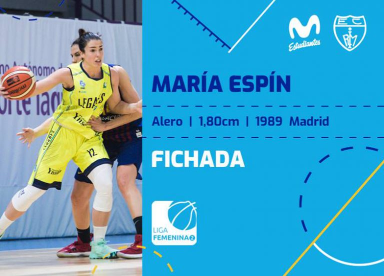 María Espín regresa a Movistar Estudiantes LF2