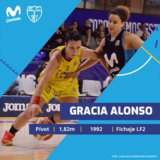 Gracia Alonso, primer fichaje de Movistar Estudiantes LF2