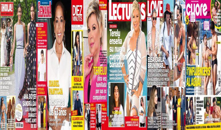 Kiosco rosa: así vienen las portadas de las revistas del corazón