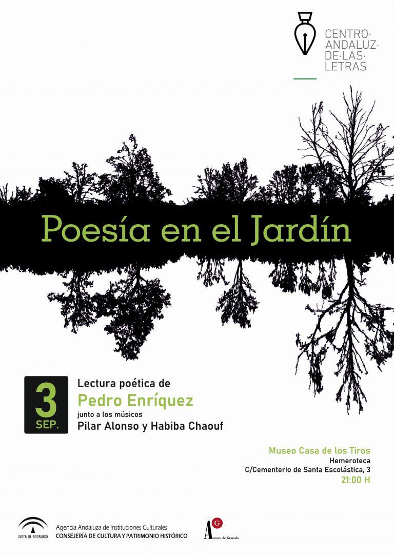 El poeta Pedro Enríquez abrirá el ciclo de 'Poesía en el Jardín'