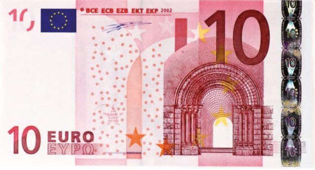 10$ In Eur