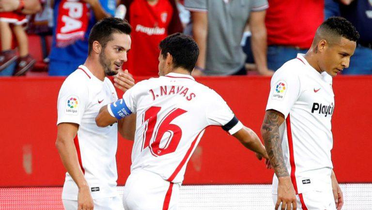El Sevilla vuelve a ganar y deja a la Real sin auparse al liderato (3-2)