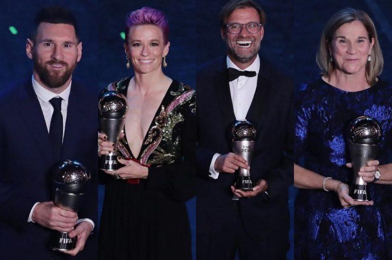Messi y Rapinoe, ganan el premio The Best de la FIFA