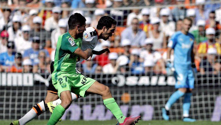 1-1. El Valencia  no puede con el Leganés