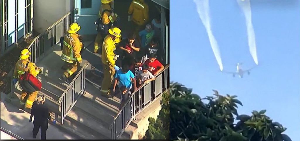 Resultado de imagen para Un avión derrama combustible por una emergencia y deja 60 heridos