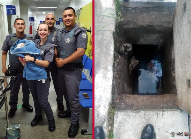 Resultado de imagen para recién nacida en brasil en una alcantarilla
