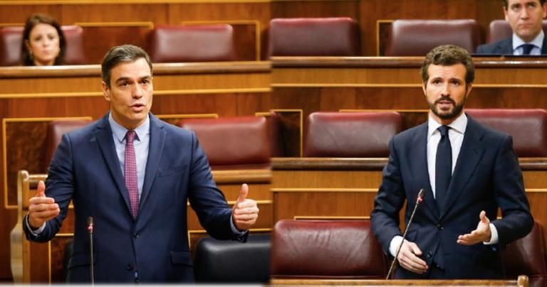 """Casado sitúa a Sánchez """"en una realidad paralela"""" y le pide elegir """"entre Europa o sus socios"""""""