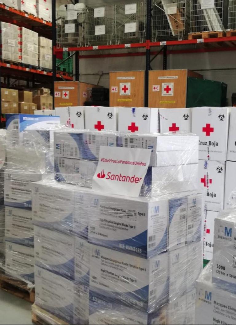 Banco Santander dedica ya más de 100 millones  a iniciativas solidarias contra la pandemia