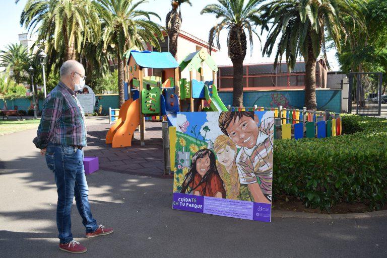 La Laguna activa una campaña informativa en los parques y zonas infantiles para prevenir el covid-19