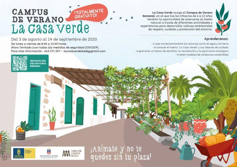 Telde impulsa un novedoso campus de verano gratuito en los huertos de la Casa Verde