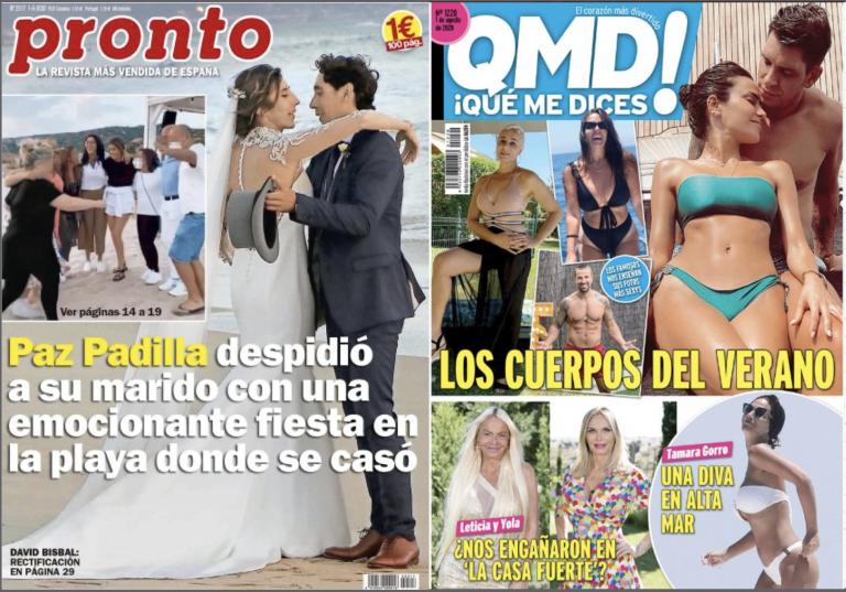 Quiosco rosa: portadas de las revistas del corazón