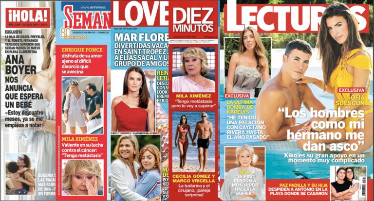Estas son las portadas de las principales revistas del corazón