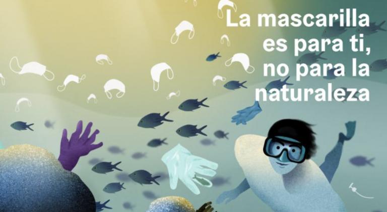 Arranca la campaña 'La mascarilla es para ti, no para la naturaleza'