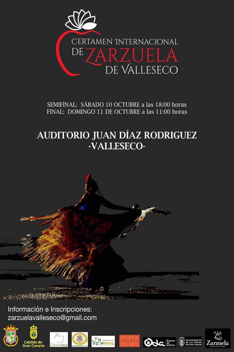 Valleseco convoca el VIII Certamen Internacional de Zarzuela