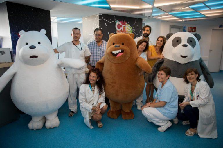 Abrazos de osos contra el cáncer y la pandemia