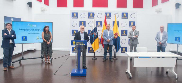 El Cabildo de Gran Canaria transfiere 600.000 euros a La Aldea para agilizar la entrega de ayudas a los afectados por el incendio de Tasarte