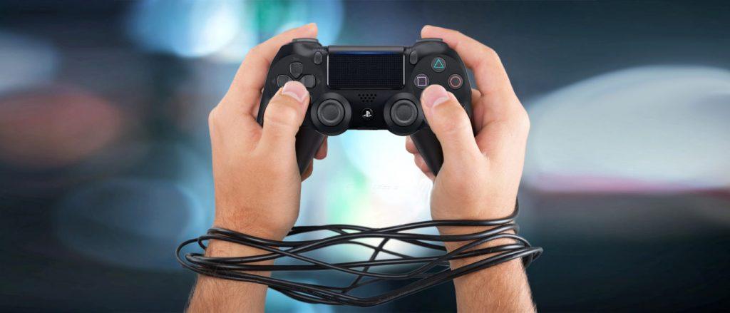 Jugadores atrapados en la red