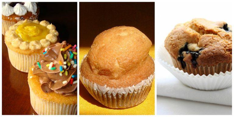 La diferencia entre un cupcake, un muffin y una magdalena que te hará un experto