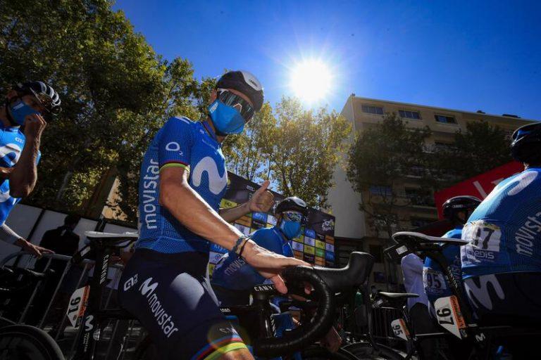 """Alejandro Valverde: """"¿Un Tour raro? La vida es rara, míranos todos con mascarilla"""""""