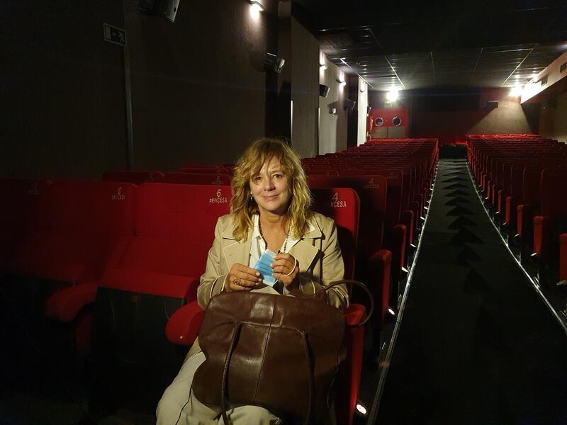 Emma Suárez anima a ir al cine «por sobrevivir»