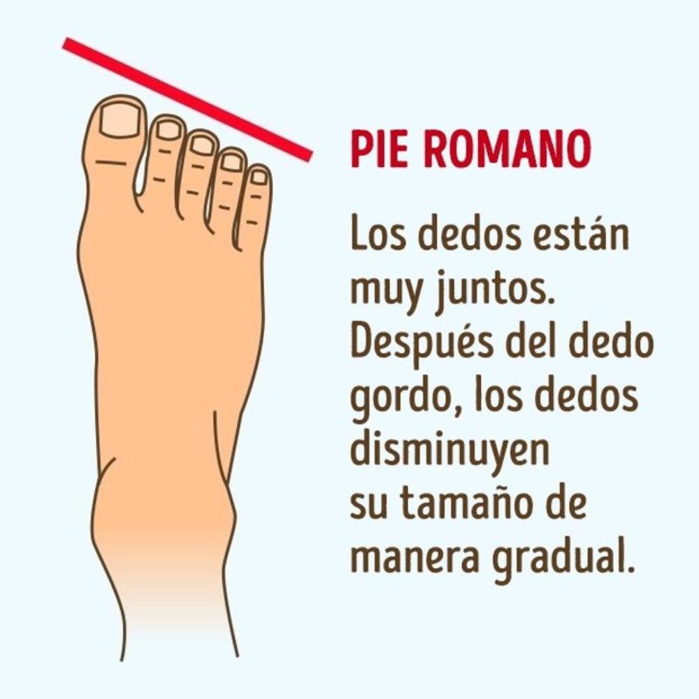 los pies romanos