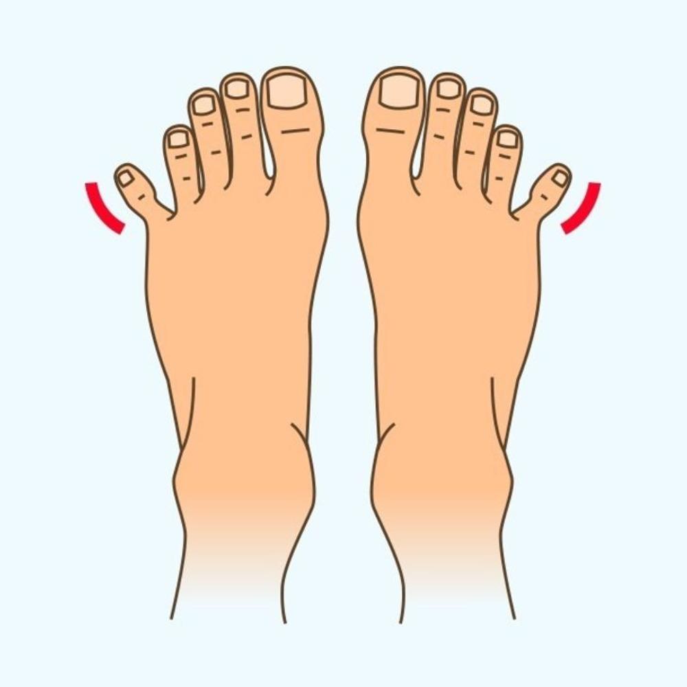 separar dedo pequeño de los pies
