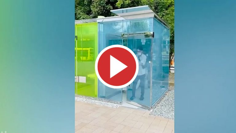 Baños públicos transparentes en Japón