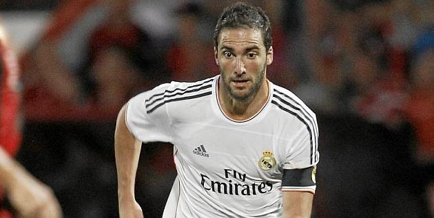 Higuaín en el Madrid, donde también estuvo Cristiano