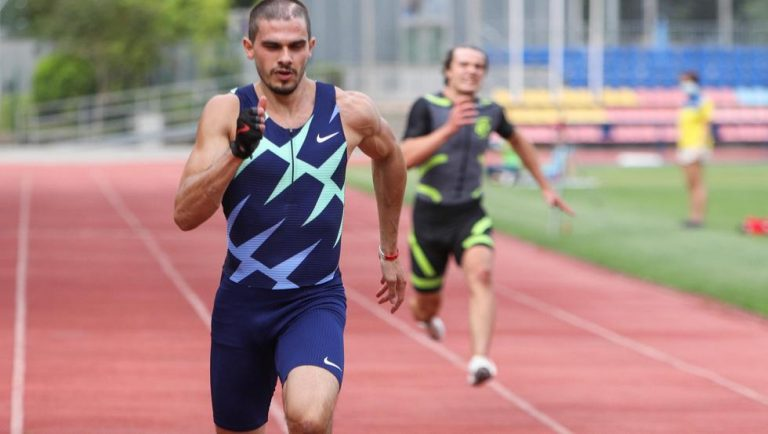 Bruno Hortelano se lesiona en su regreso al 200 en Estocolmo