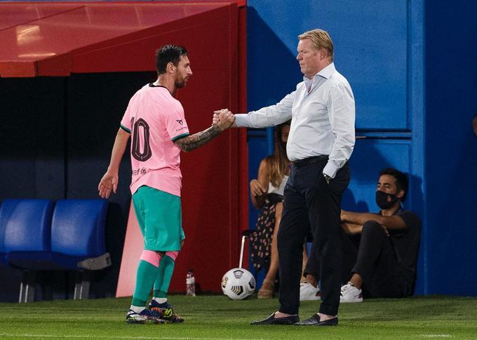 Messi insiste a Koeman: este es el atacante que necesita el Barcelona
