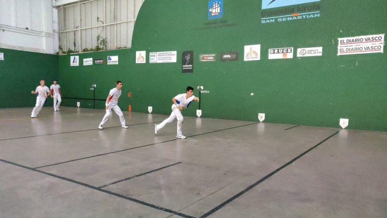San Sebastián acoge esta semana las finales del torneo de pelota del Antiguo