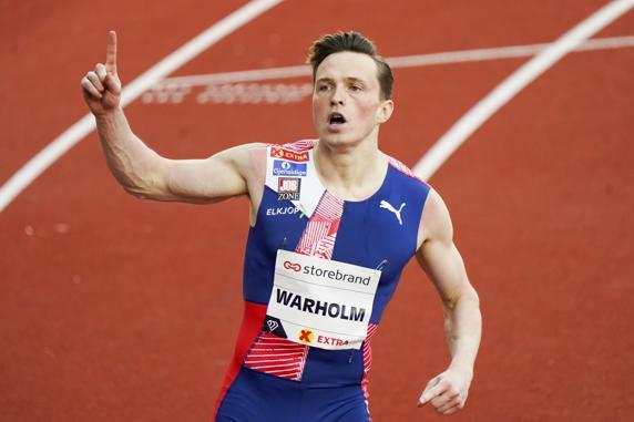 Karsten Warholm bate su propio récord de Europa de 400 vallas