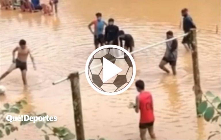 ¿Estadio inundado? No importa porque es un golazo