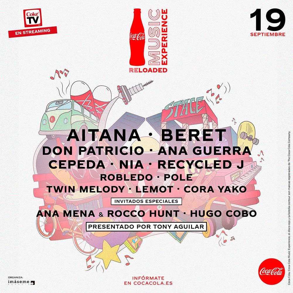 Esta será la Coca Cola Music Experience Reloaded