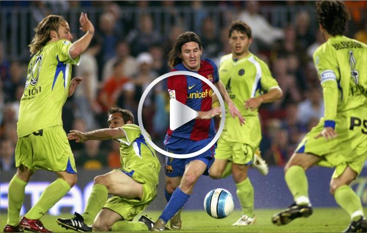 Comparativa entre el idéntico gol de Lionel Messi y Diego Maradona