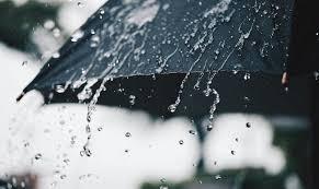 La lluvia y la mascarilla