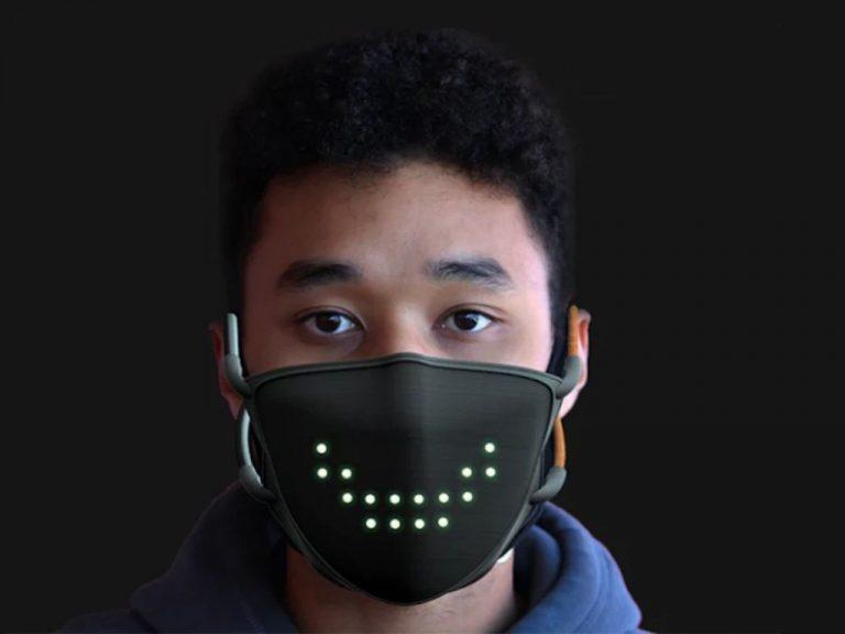 La mascarilla con luz led para sonreír y otras mascarillas tecnológicas que han impresionado