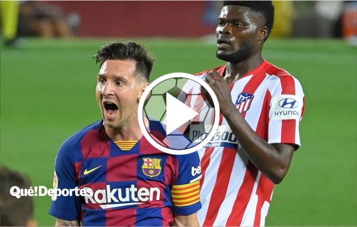 Así de simple Lionel Messi limpia a 5 jugadores y marca un golazo