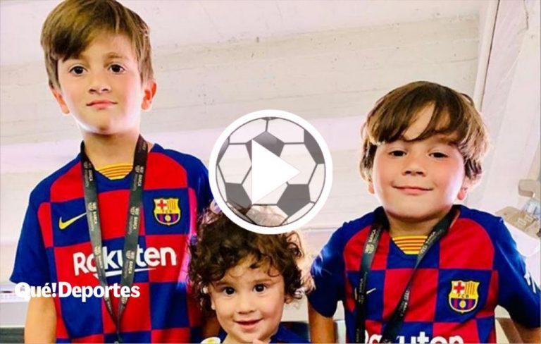 """Thiago Messi se dio cuenta: """"Es muy bueno mi papá jugando al fútbol"""""""