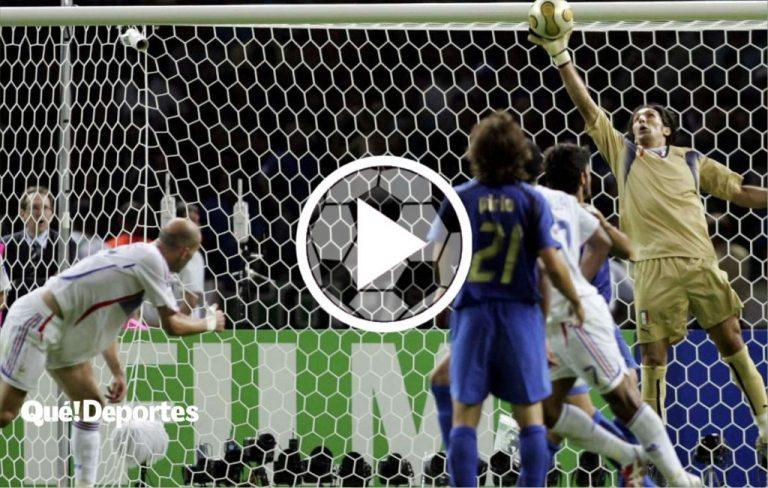 Gianluigi Buffon y su parada bestial ante Zinedine Zidane