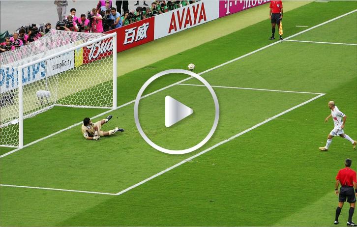 Golazo de Zidane a lo Panenka a Buffon