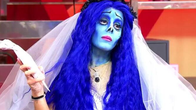 Anabel Pantoja disfrazada de novia cadáver.