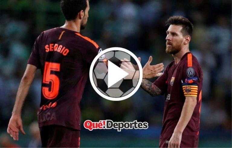 El pedazo de asistencia de Busquets y una pobre definición de Messi
