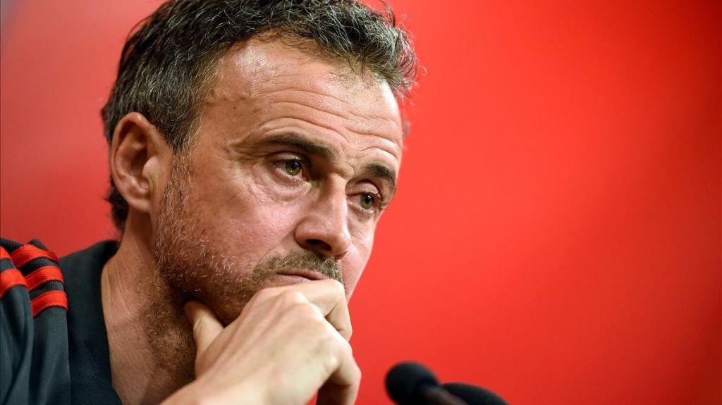 El seleccionador español de fútbol, Luis Enrique Martínez