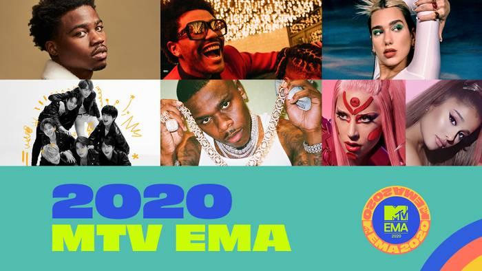 """Nominados a los premios """"MTV EMA 2020"""""""